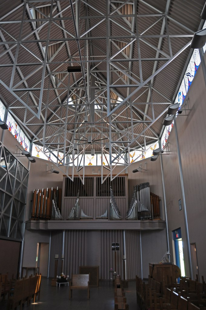 The organ pipes in the Chapel