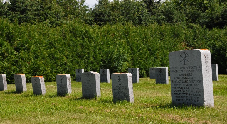 The graveyard is the final resting place for the many Priests who served at the College.