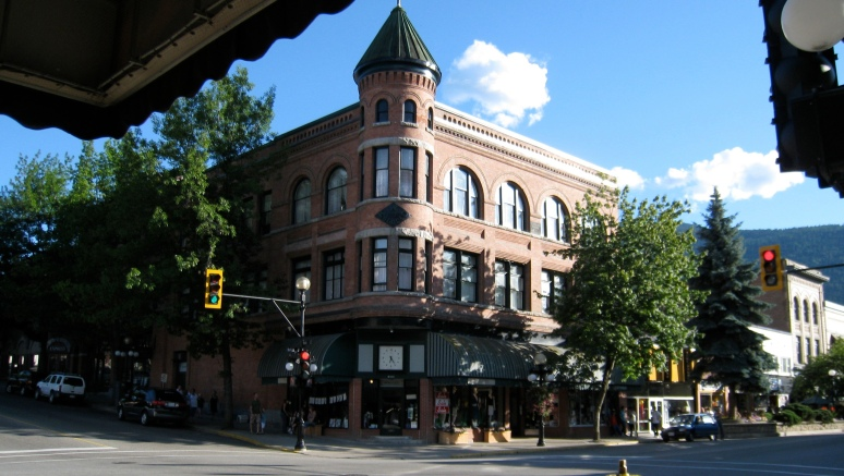 A historic downtown building adds to the charm of the community.