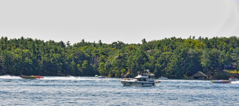 Before boarding our boat, we were entertained by speedboats participating in a Poker Race.