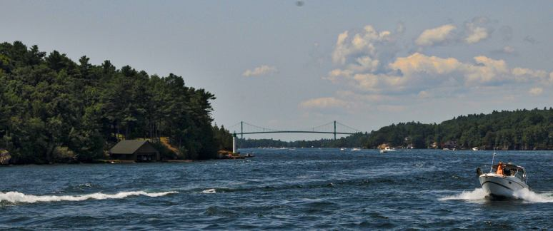The Thousand Island Bridge connecting Canada and the USA.