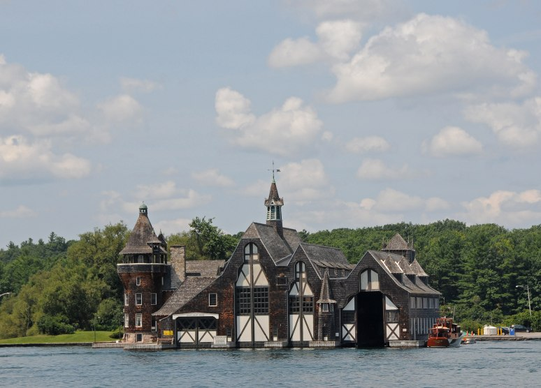 The Yacht House for Boldt Castle is located across the water from the Castle.