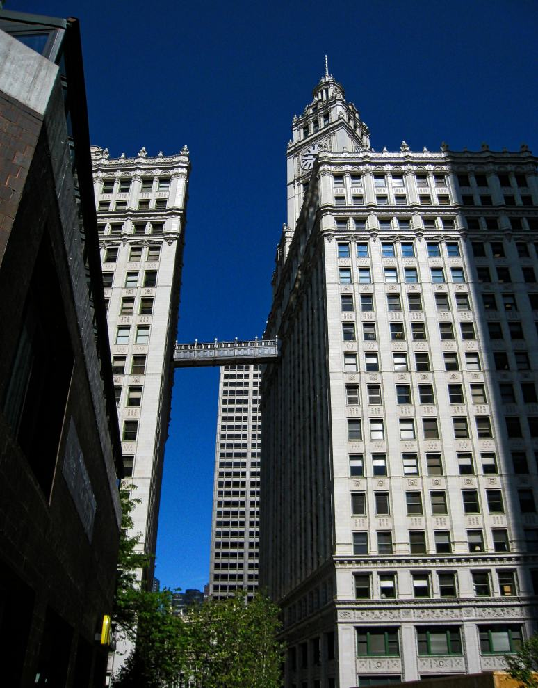 The Wrigley Building from the back